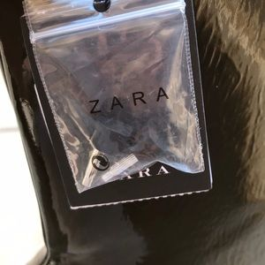 Zara Shoes - Olive Green Zara Patent Leather Boots
